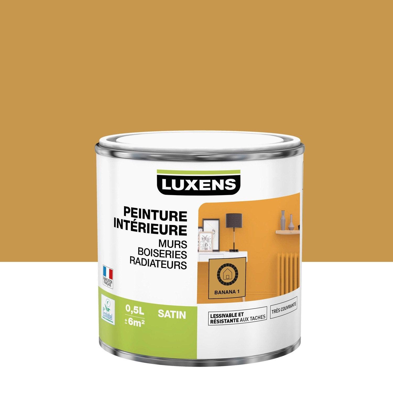 Peinture, mur, boiserie, radiateur, Multisupports LUXENS, banana 1, satin, 0.5 l