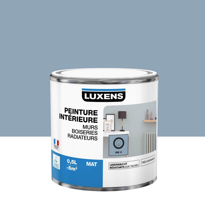 Peinture mur, boiserie, radiateur Multisupports LUXENS, ink 6, 0.5 l, mat