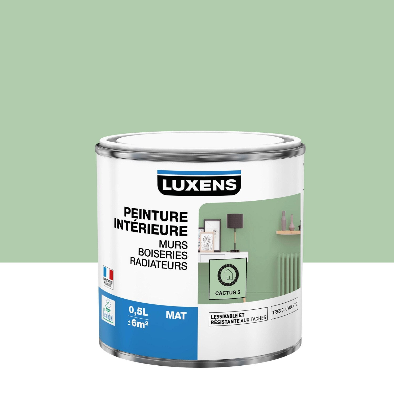 Peinture mur, boiserie, radiateur Multisupports LUXENS, cactus 5, 0.5 l, mat