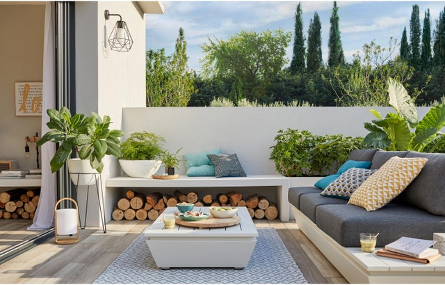 un salon de jardin design et l gant leroy merlin. Black Bedroom Furniture Sets. Home Design Ideas