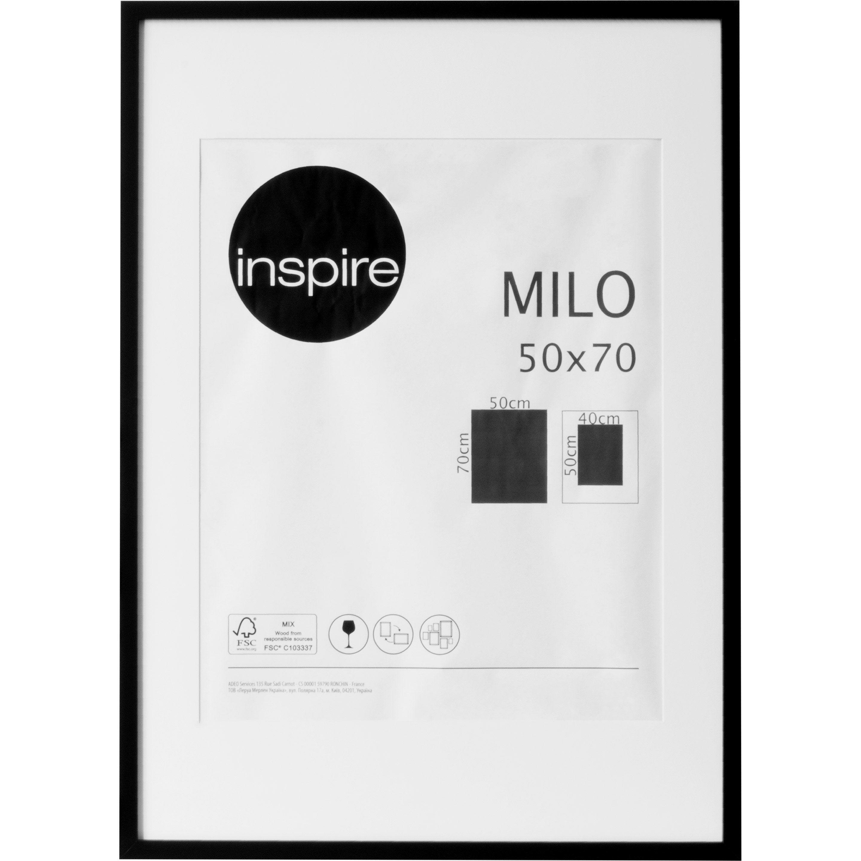 Cadre Milo, l.50 x H.70 cm, noir