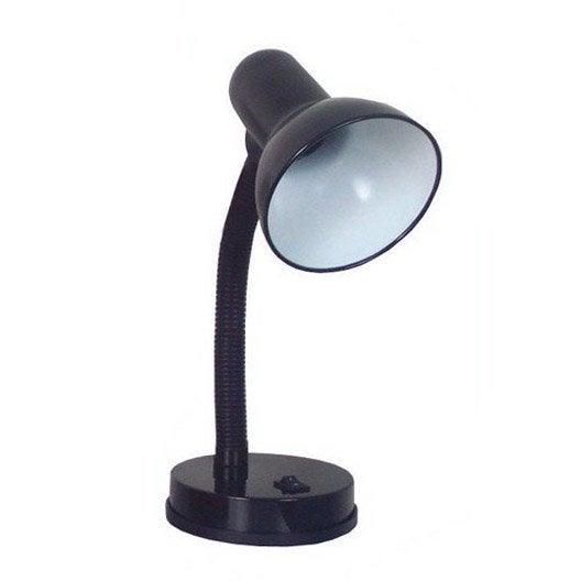 Lampe de bureau noir master - Leroy merlin lampe bureau ...