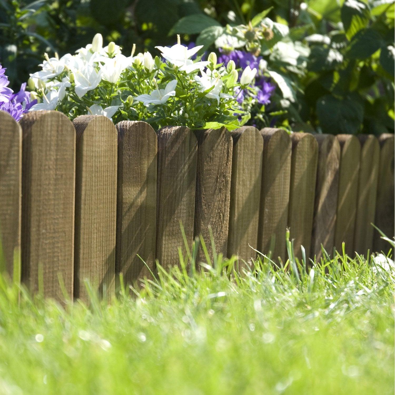 Bordure à dérouler bois marron h 20 x l 120 cm