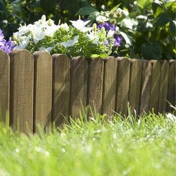 Bordure à dérouler bois marron, H.20 x L.120 cm