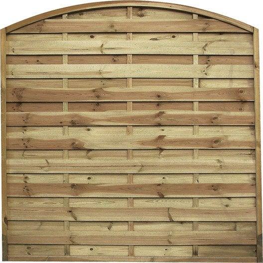 Panneau en bois arc occultant l 180 x h 180 cm naturel for Panneau bois exterieur leroy merlin
