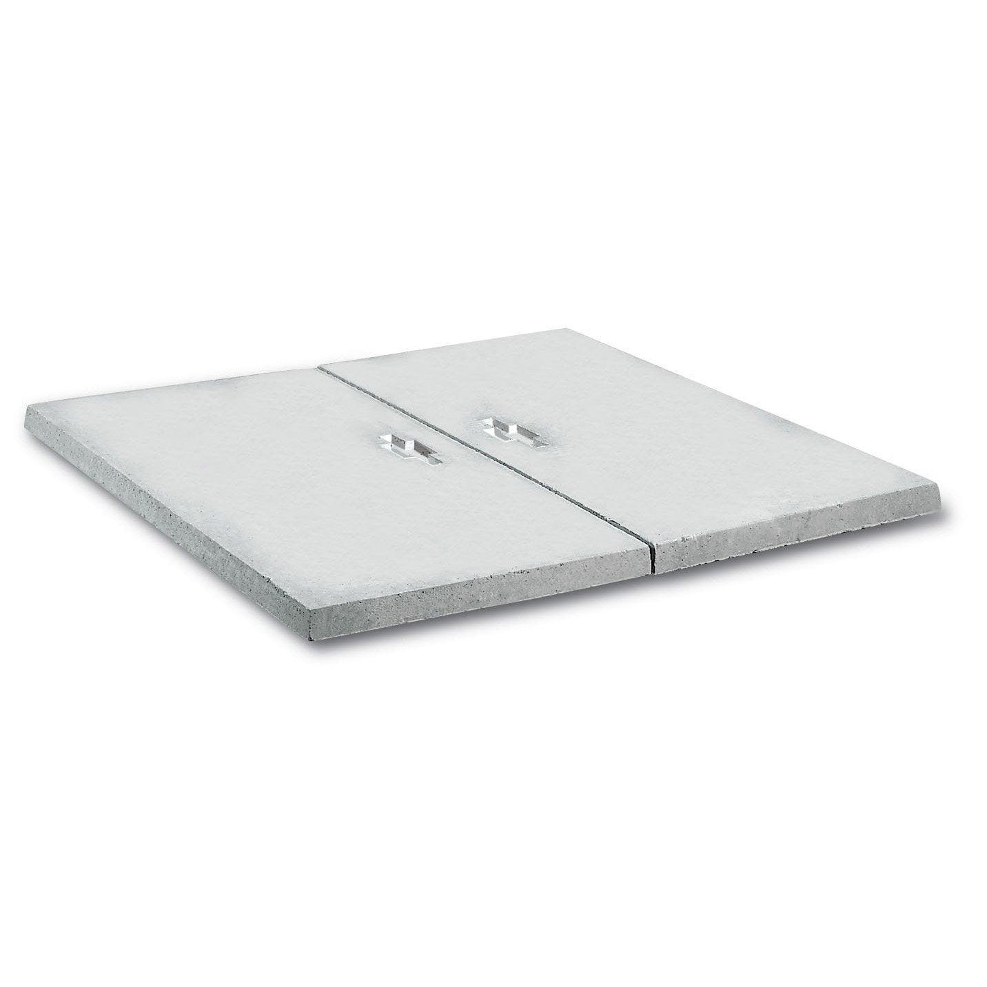 Coffret Compteur Eau Castorama couvercle pour abri béton gris legouez, l.80 x l.80 cm