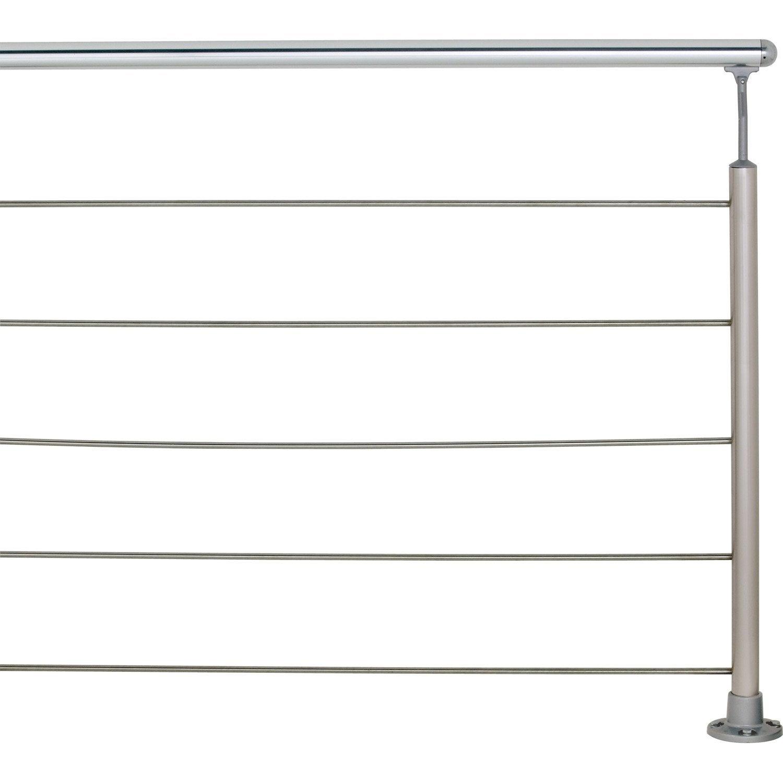 Famous Main courante aluminium poli OBAPI, 2 m | Leroy Merlin BS94