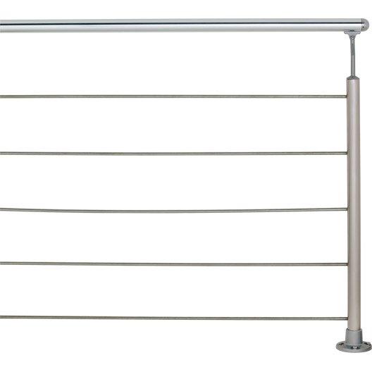 Main courante aluminium poli OBAPI,  2 m
