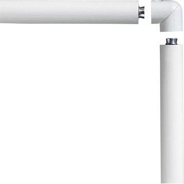 Main courante aluminium blanc OBAPI, 2 m