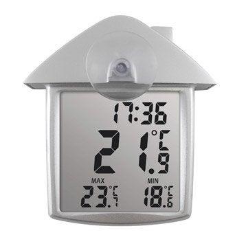 Thermomètre de fenêtre intérieur ou extérieur INOVALLEY