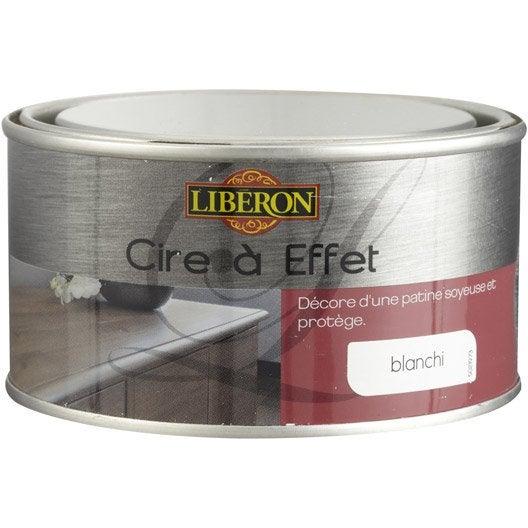Cire effet meuble et objets liberon effet blanchi - Peinture effet blanchi ...