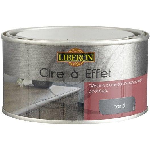 Cire effet meuble et objets liberon effet noirci l leroy merlin for Peinture effet cire