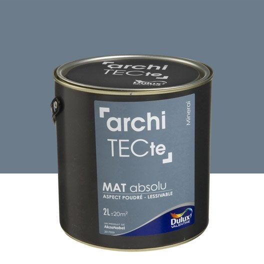 peinture gris minerai dulux valentine architecte 2 l leroy merlin. Black Bedroom Furniture Sets. Home Design Ideas