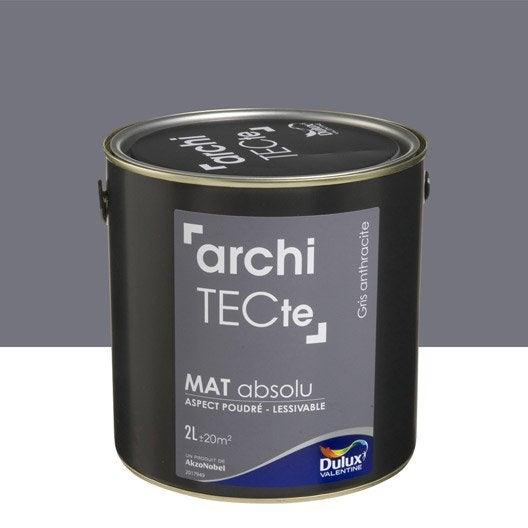 Peinture gris anthacite dulux valentine architecte 2 l leroy merlin for Peinture couleur argent