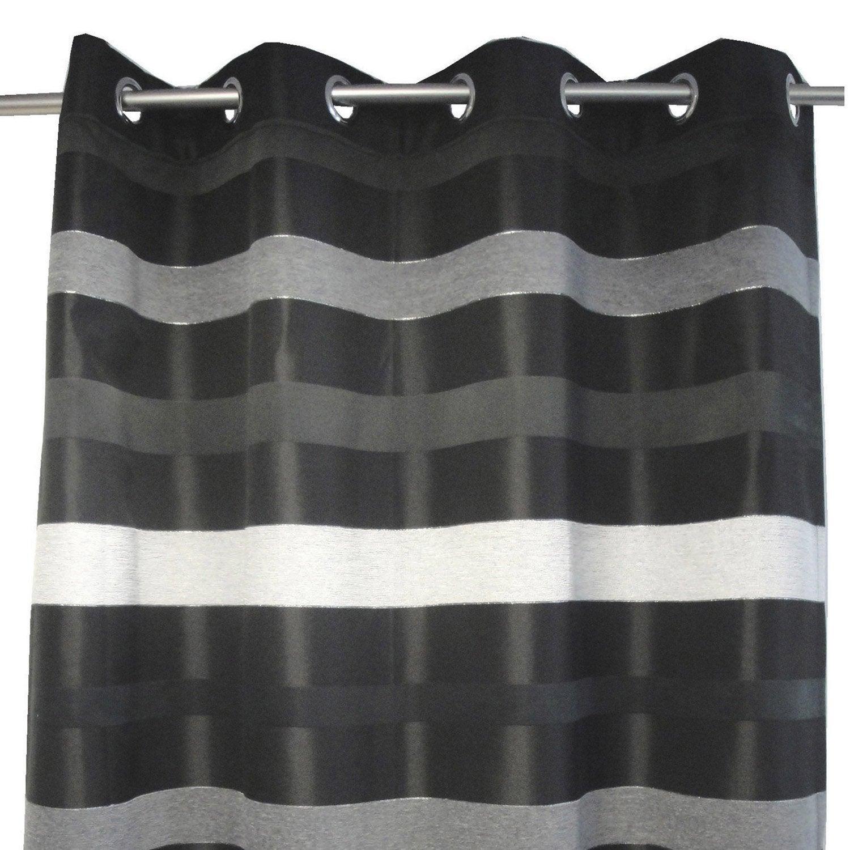 Rideau tamisant, Edimbourg, noir, l.140 x H.270 cm | Leroy Merlin