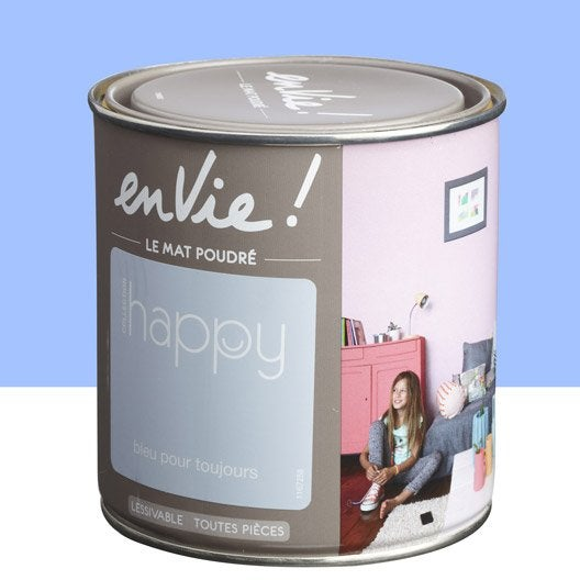 Peinture multisupports envie collection happy luxens bleu for Peinture eleonore leroy merlin