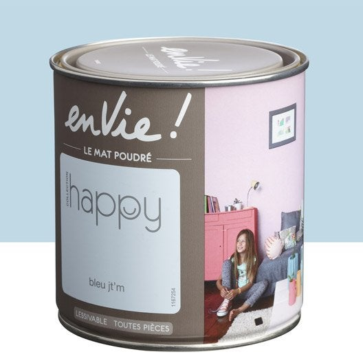 Peinture bleu jt'm LUXENS Envie collection happy 0.5 l