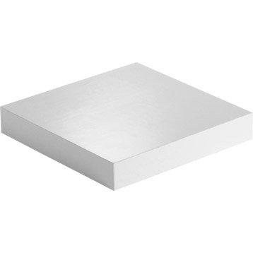 Etagère murale blanc-blanc n°0 SPACEO, L.23.5 x P.23.5 cm Ep.18 mm