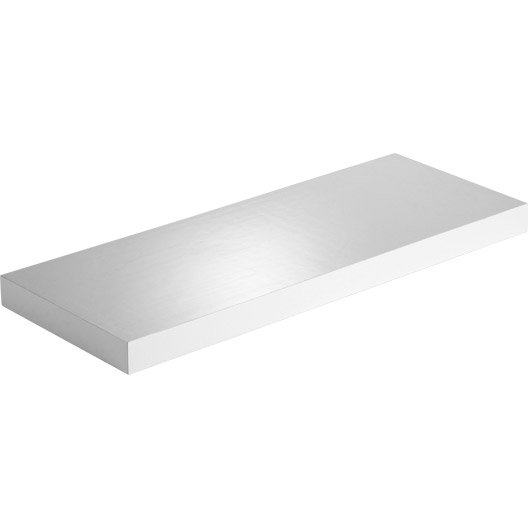 Etag re murale spaceo glossy blanc super brillant l 60 x for Etageres murales leroy merlin