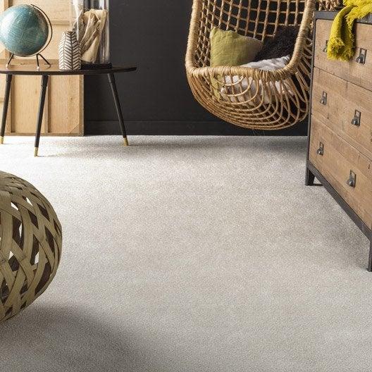 moquette velours frost premium beige 4 m leroy merlin. Black Bedroom Furniture Sets. Home Design Ideas