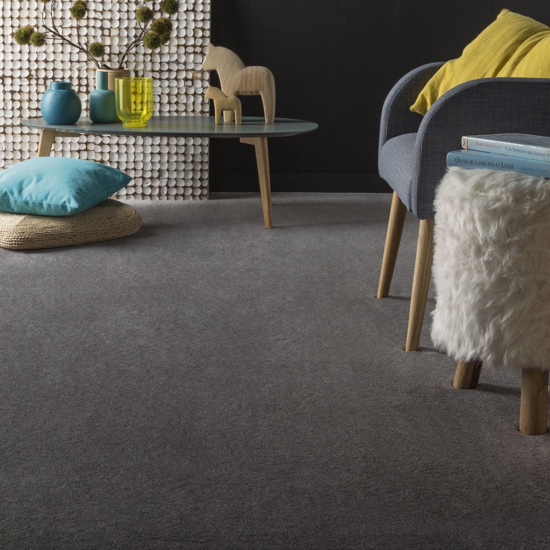 moquette velours carezza supr premium grise 4 m leroy merlin. Black Bedroom Furniture Sets. Home Design Ideas