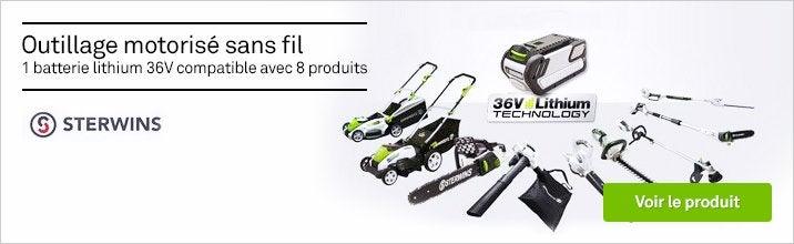 Platerforme outils motorisés STERWINS 36V : 1 batterie pour 8 outils
