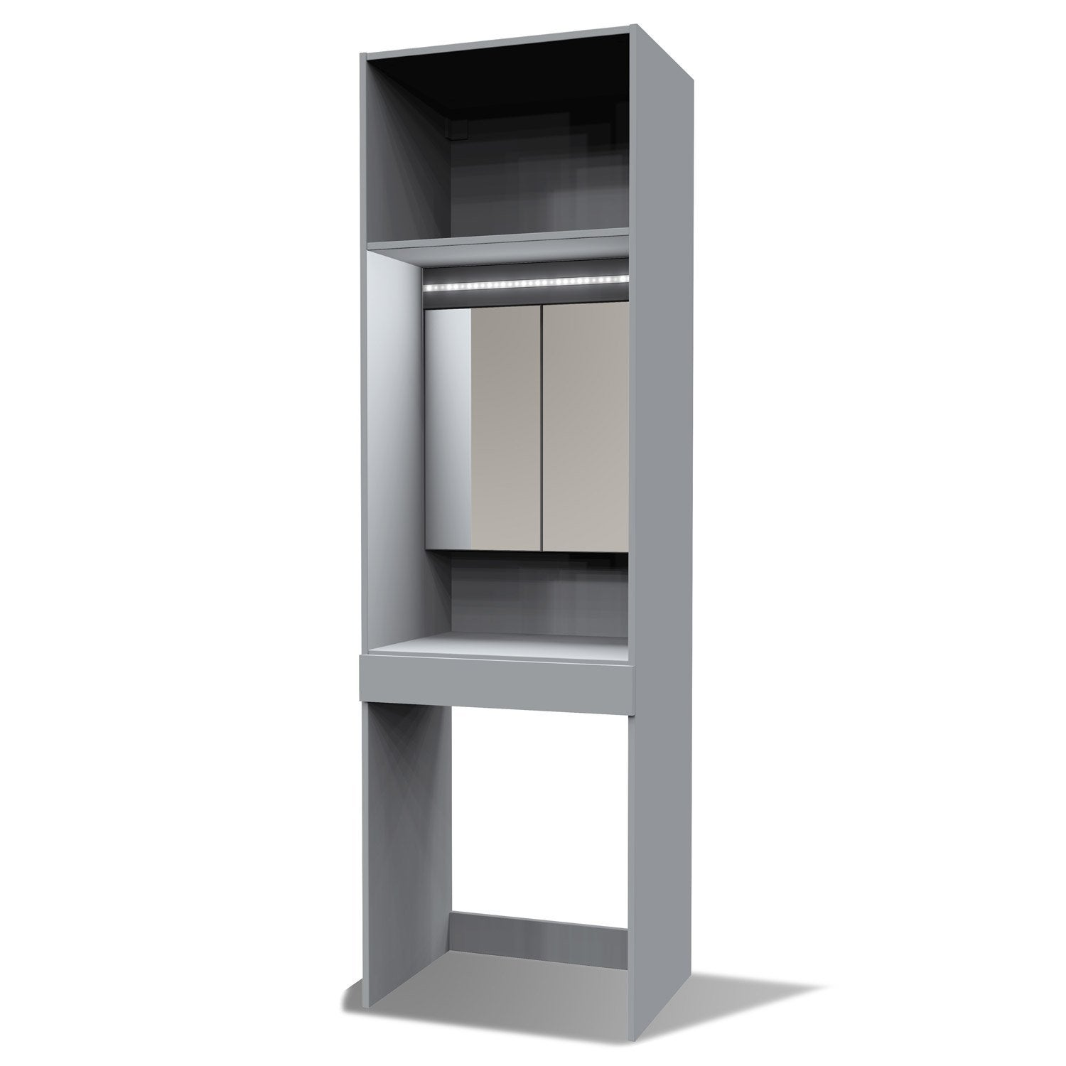 Caisson coiffeuse SPACEO Home 200 x 60 x 45 cm, gris | Leroy Merlin