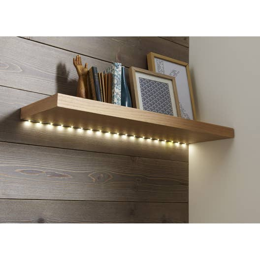 kit ruban led 1m blanc chaud 3000k 120 lumens leroy merlin. Black Bedroom Furniture Sets. Home Design Ideas