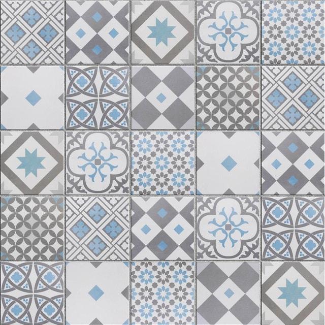 Harmonie entre bleu et gris pour les carreaux de ciment | Leroy Merlin
