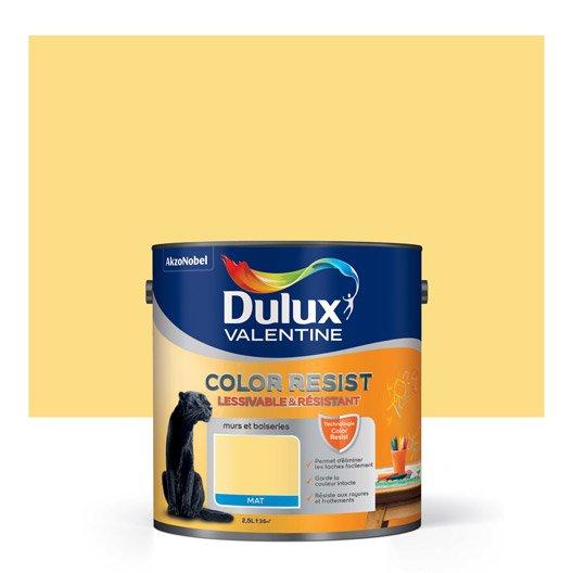 Peinture jaune chrome dulux valentine color resist 2 5 l leroy merlin - Peinture dulux valentine ultra resist bois ...