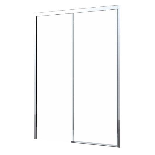Porte de douche coulissante 130 cm transparent neo leroy merlin - Porte coulissante pour douche de 130 cm ...
