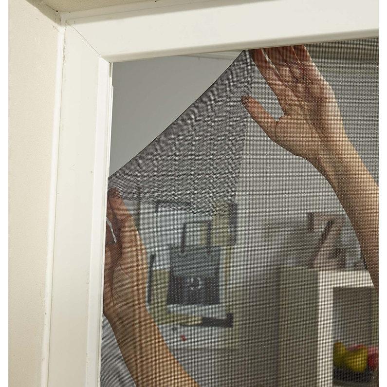 Moustiquaire Pour Fenêtre Avec Fixation Auto Agrippante H130 X L120 Cm