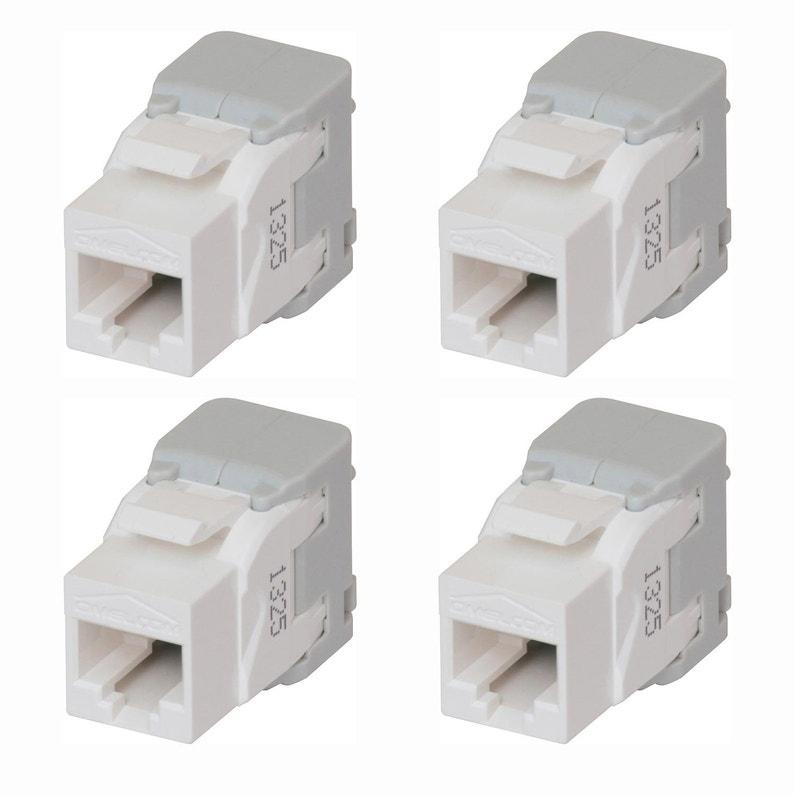 Lot De 4 Connecteurs Modulaires Rj45 Cat5 Abb