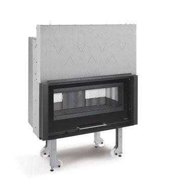 Insert à bois façade droite NORDICA Monobloc 1000 piano 10 kW