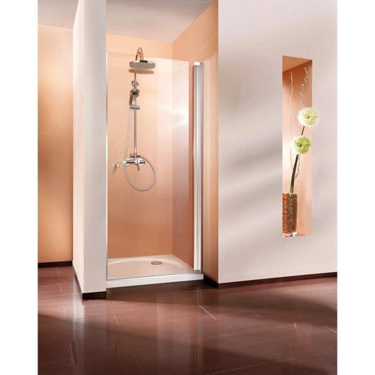 porte de douche pivotante 90 cm transparent fara5 leroy merlin. Black Bedroom Furniture Sets. Home Design Ideas