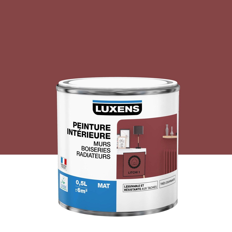 Peinture mur, boiserie, radiateur Multisupports LUXENS, litchi 1, 0.5 l, mat
