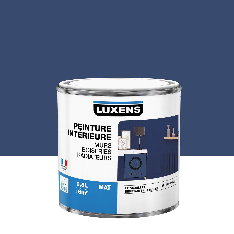 Peinture mur, boiserie, radiateur Multisupports LUXENS, saphir 1, 0.5 l, mat