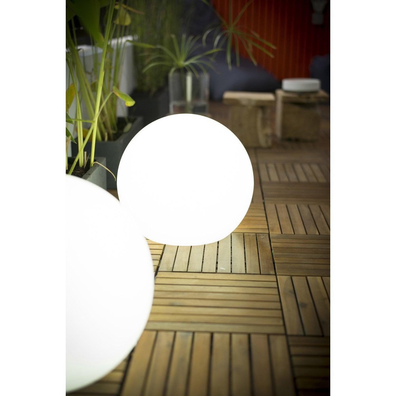 boule d corative ext rieure buly diam 30cm e27 15 w 800 lm blanc newgarden leroy merlin. Black Bedroom Furniture Sets. Home Design Ideas