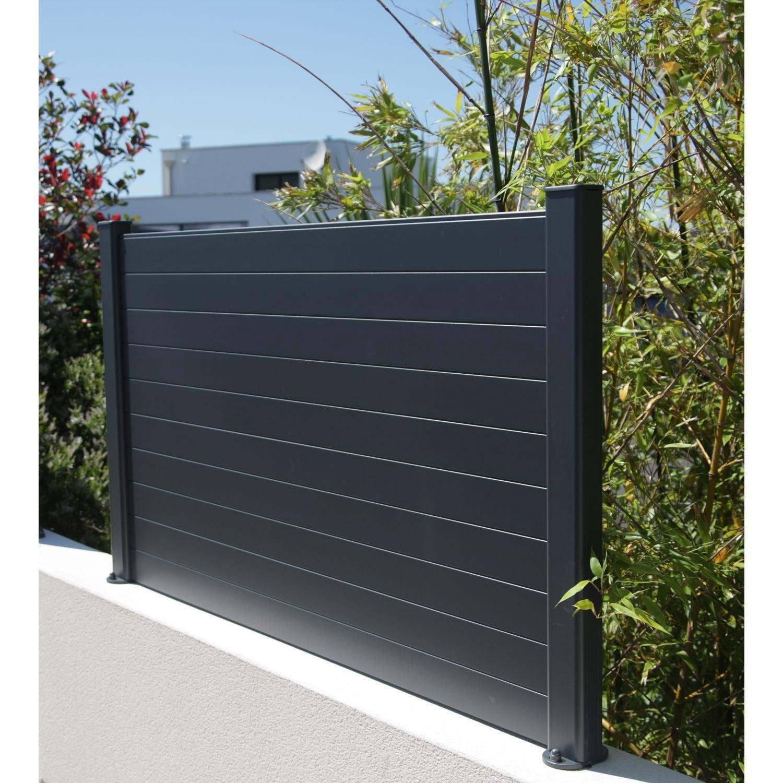 Lame De Cloture Aluminium Klos Up Naterial Gris Zingue H 9 X L