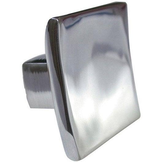 Bouton de meuble carr aluminium brillant leroy merlin - Bouton de meuble design ...
