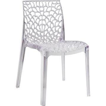 d888c3e166e8e Chaise de jardin en polycarbonate Grafik lux transparent