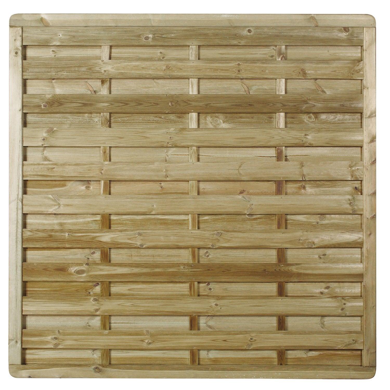 Palissade Bois Leroy Merlin Prix panneau bois occultant luxe, l.180 cm x h.180 cm, naturel