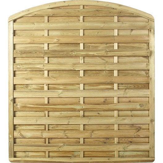 Panneau bois occultant luxe cm x cm naturel for Arc de jardin en bois