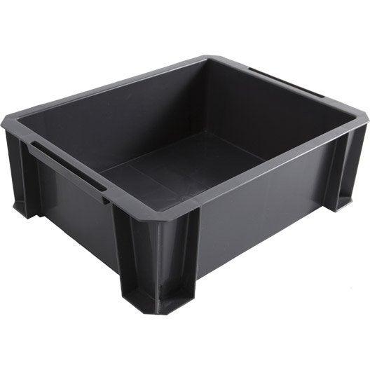 bac de manutention stacking box plastique , l.35 x p.27.5 x h.12