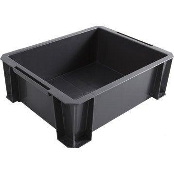 Bac de manutention Stacking box plastique , l.35 x P.27.5 x H.12 cm