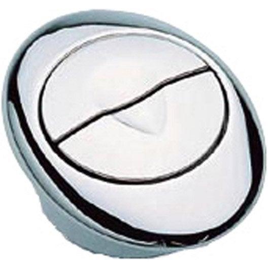 bouton soupape chrome double poussoir sas leroy merlin. Black Bedroom Furniture Sets. Home Design Ideas
