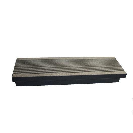 margelle composite gris anthracite terrasse premium l 2 4 x l m leroy merlin. Black Bedroom Furniture Sets. Home Design Ideas