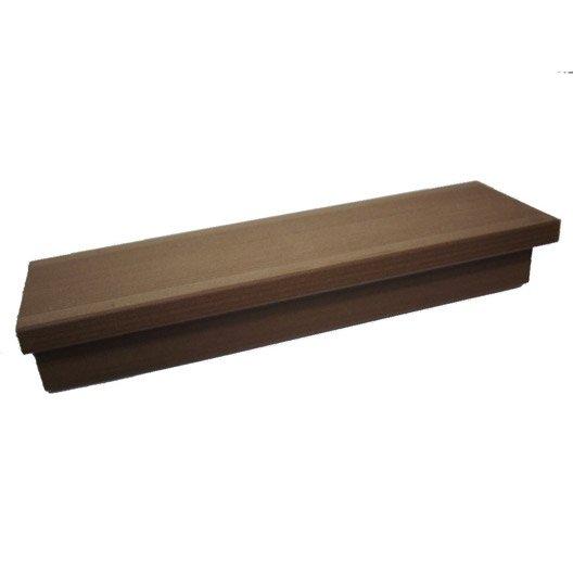 margelle composite havane brun clair terrasse premium l24 x l012 m - Margelle Bois Piscine Leroy Merlin