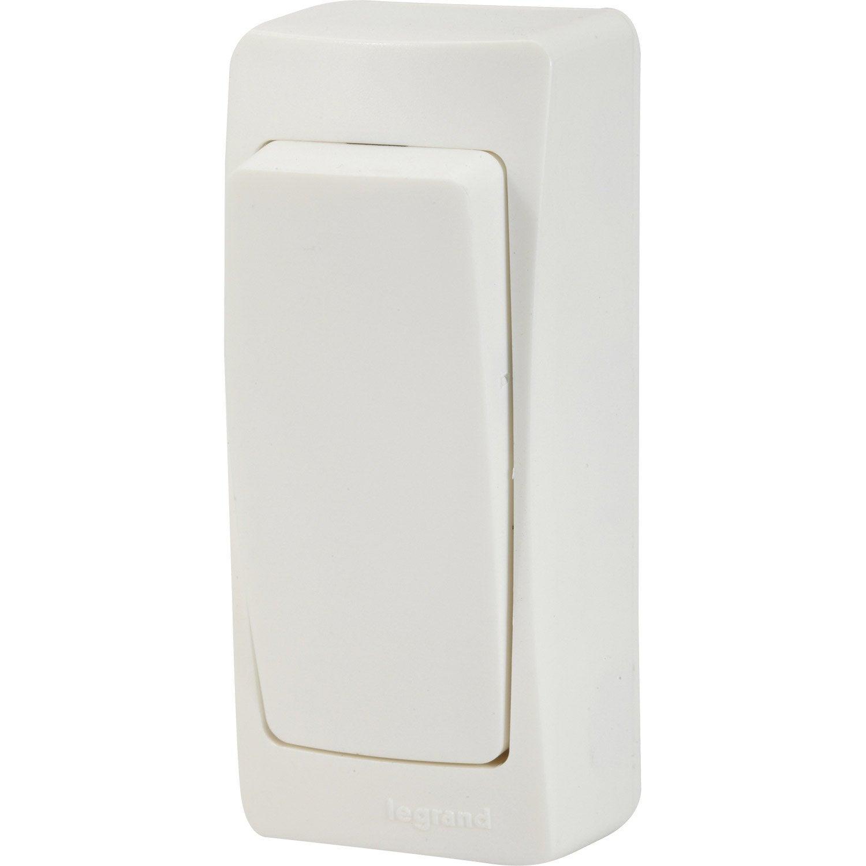 Interrupteur Va Et Vient Saillie Legrand Asl Blanc