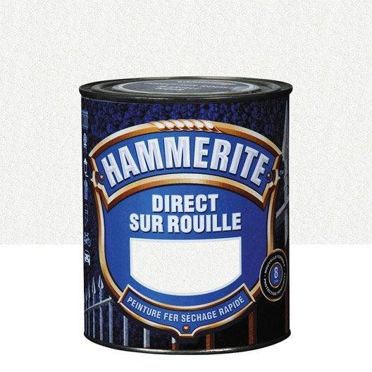 peinture fer extérieur hammerite, blanc, 2.5 l | leroy merlin
